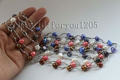 Wholesale 5pieces Charming Genine Natural 10mm Baroque Pearl Necklace #f2222!