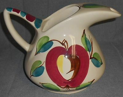 PURINTON POTTERY Hand Painted APPLE PATTERN 80 oz Pitcher or Jug