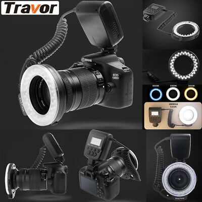 RF-550D LED Ring Flash Light For Nikon, Canon, Olympus, Panasonic, SonyA7 Camera