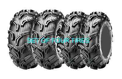 FOUR MAXXIS ZILLA 6 PLY ATV TIRE SET 28x10-12 FRONT & 28x12-12 REAR 4 MUD TIRES
