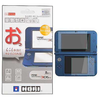 Top Tempered Glass + Bottom Screen Protector Film Skin for New Nintendo 3DS LL