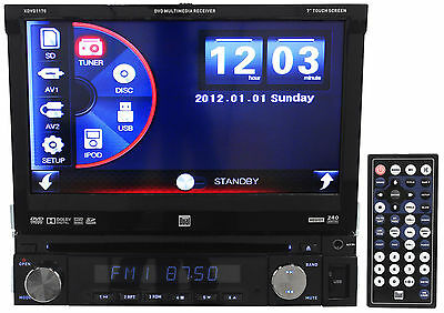 "Dual XDVD1170 7"" 1-Din Car Stereo DVD Player AM/FM Receiver iPod/iPhone, USB, SD"