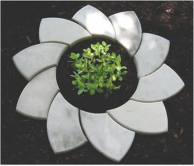 2 Plastic Molds for Concrete - Flower and Tree Ring Stone Cement Forms