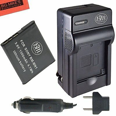 BM NP-BN1 Battery & Charger for Sony CyberShot DSC-W330,W350,W510,W530,W560,W570