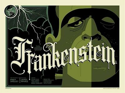 "Tom Whalen Universal Classic Monsters ""Frankenstein"" Poster Print Regular"