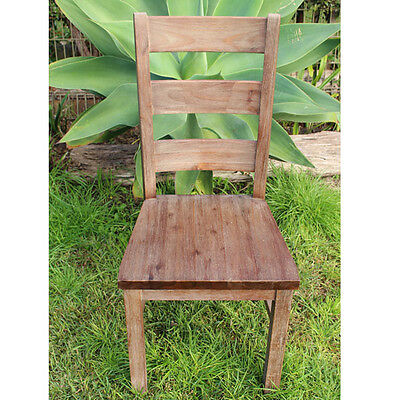Lime Washed High Back Timber Dining Chair