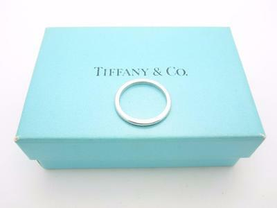 Tiffany & Co. Platinum 2mm Wedding Band Ring Size 5