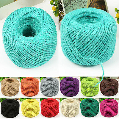 NEW 50M Twisted Burlap Natural Fiber Jute Twine Rope Cord String Craft DIY Gift