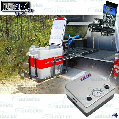 Msa 4X4 Ds40 Fridge Heavy Duty Drop Slide +Bonus Matson Underseat Air Compressor