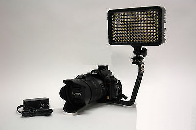 PRO 4K 2 LED video light with AC power adapter for Canon 760D 750D 700D  100D SLR