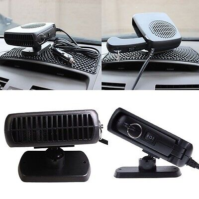 12V Car Portable Vehicle Ceramic Heater Heating Cooling Fan Defroster Demister
