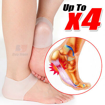 Foot Heel Ankle Relief Massage Support Soft Silicone Gel Shoes Cushion Pads