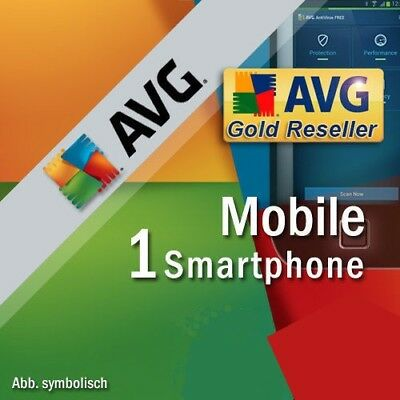 AVG Mobile AntiVirus Security PRO 2 Jahre 1 Smartphone / Tablet mit Android