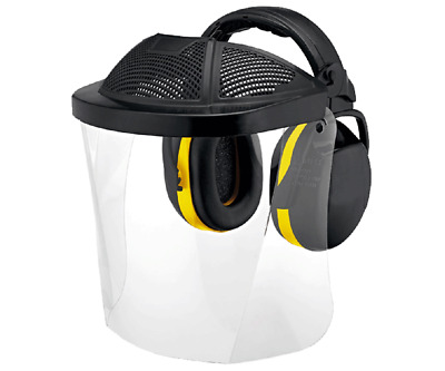 Hellberg visor with clear poly visor Secure 2 headband earmuff for medium noise