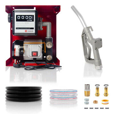 230V Wall Mounted Diesel Adblue Transfer Fuel Pump Kit - With Fuel Meter