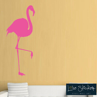 Wall Stickers Flamingo Bird Animal Living Room Nature Cool Art Decals Vinyl Home