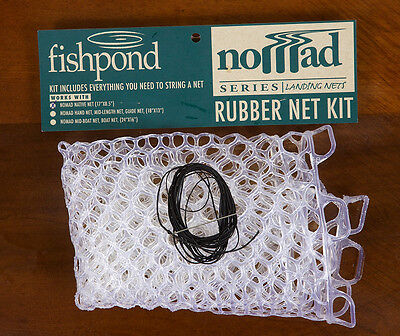 """NEW FISHPOND REPLACEMENT RUBBER NET 15"""" SMALL CLEAR hand mid-length guide"""