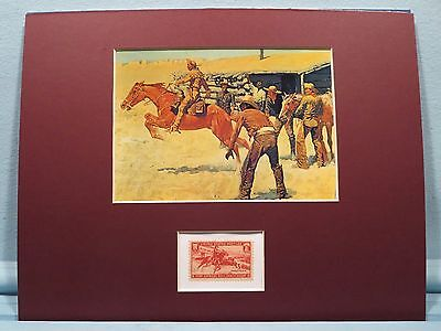 Frederic Remington - The Pony Express honored by its own stamp