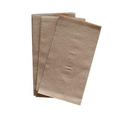 3000x Recycled Kraft Napkins 1 Ply Lunch M Fold Brown Natural Look Serviettes