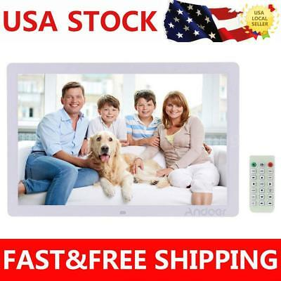 "17""inch HD 1080P LED Digital Photo Frame MP3 MP4 Movie Player Remote Control US"