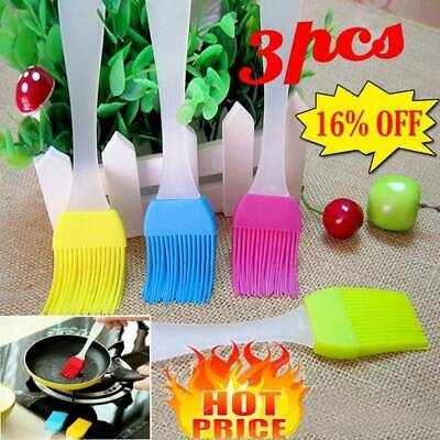 3 X Silicone Baking Bakeware Bread Cook Pastry Oil Cream BBQ Tools Basting Brush