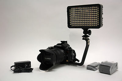 Pro 4K 12 LED video light w AC adapter F570 for Canon EOS DSLR AVCHD HD camera