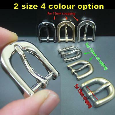 2/10/20x Half Round Belt Buckle for 12mm or 15mm strapping DIY Bag/Collar craft