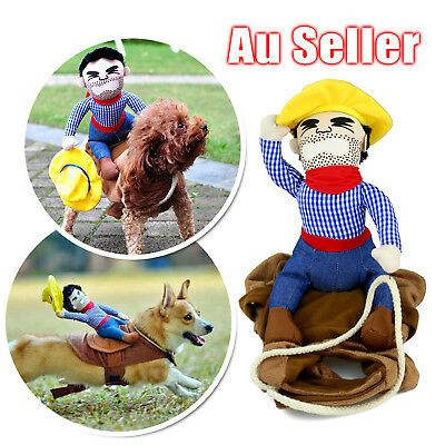 S-XL Pet Cat Dog western cowboy rider Clothes Clothing Cosplay Costume Party OZ