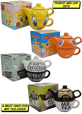 TEAPOTS - Tea Pot and Cup Sets - Tea For One - Mr T Zippy Tweety Pie Yorkshire
