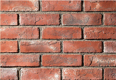 Manufactured Brick Veneer Wall Siding  - Country Brick - Red Dawn