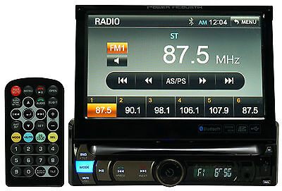 """Power Acoustik PDR-780B 7"""" In-Dash Car Monitor Stereo Receiver W/Bluetooth/USB"""