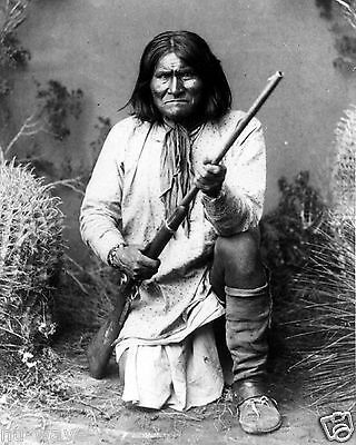 GERONIMO-Prominent Leader Of the Apaches Fought Mexico and Arizona - 1898 Photo
