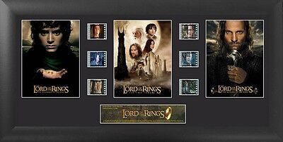 LORD OF THE RINGS TRILOGY Epic Fantasy MOVIE PHOTO FILM CELL MONTAGE 14 x 18 New