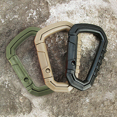 4x Carabiner D-Ring Camp Snap Clip Hook Buckle Keychain Keyring Hiking Climbing