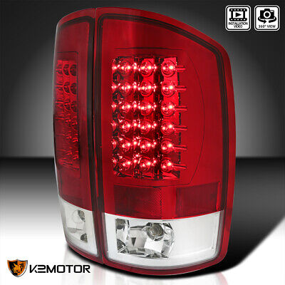 2002-2006 Dodge Ram 1500 2500 3500 LED Rear Tail Lights Lamps Red Left+Right