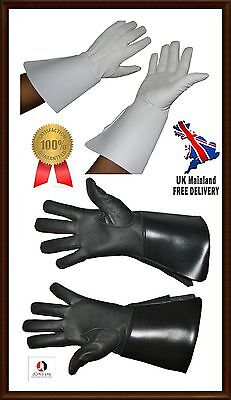 PIPER DRUMMER LEATHER GAUNTLETS / GLOVES,Wind & Woodwind Band Leather Gloves