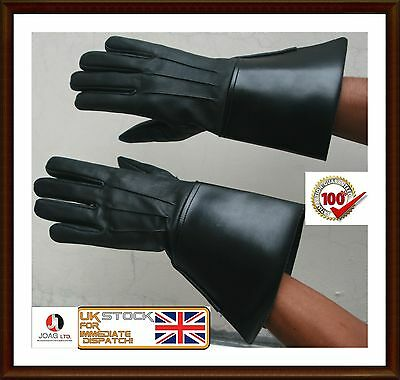PIPER DRUMMER LEATHER GAUNTLETS / GLOVES, Band Real leather Gloves