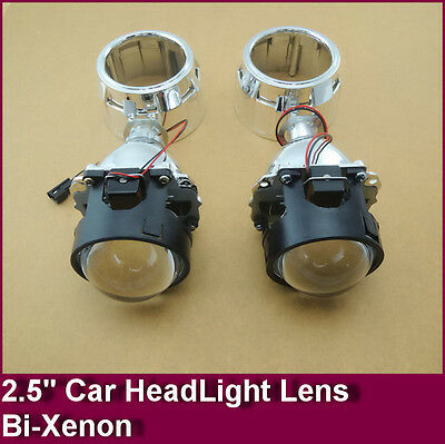 "2.5"" Mini Hid Bixenon Projector Lens For H1 Bulb Car With Shround H4 H7"
