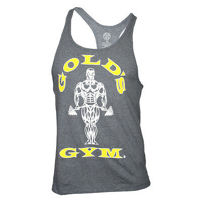 "Gold's Gym Classic Stringer Tank Top ""Gold's Gym""  arctic grey grau"