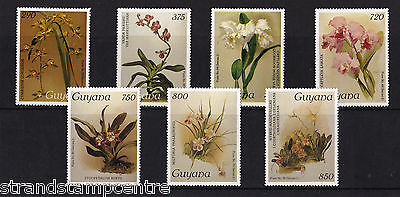 Guyana - 1987 Orchids (26th Issue) - U/M - SG 2235-42