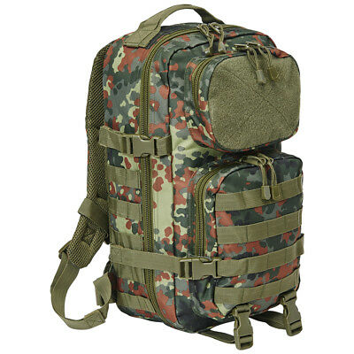 Brandit Us Cooper Patch Combat Backpack 25L Waterproof Day Pack Flecktarn Camo