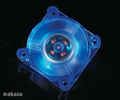 Akasa 160BL-S 40mm x 10mm Cool Blue LED Chipset Fan
