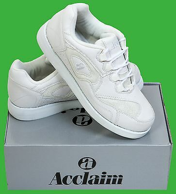 ACCLAIM Maestro Light Lace Up Sports Trainer Style White Bowls Bowlers Shoes