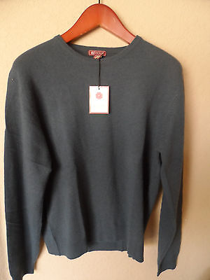 NWT Red House Mens 100% cashmere sweater crew neck top  blue size small