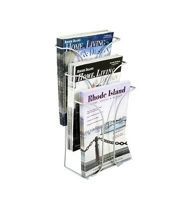 Wire Literature Holder Brochure Display Stand Tri-fold Leaflet Coutertop Display