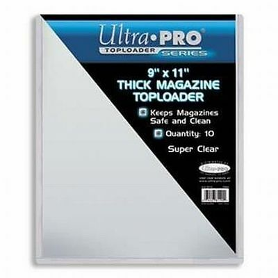 """Pack of 10 Thick Magazine Toploaders 9"""" x 11.5"""" Holder 7mm UltraPro NEW"""