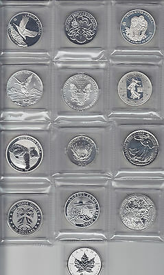 Lot of 13 of the 2012 Fabulous 15 One Ounce Silver Coin Set