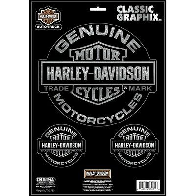 Official Harley Davidson Decal Genuine Motorcycles Large 3pc Set free shipping