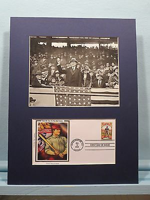 1924 - Calvin Coolidge Throws Out the First Pitch & Baseball First day Cover