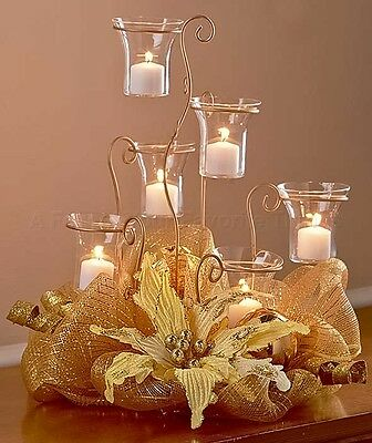 Hanging crystal chandelier candle black holder wedding for Candle dining room centerpieces